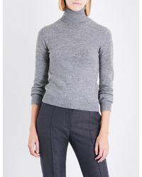Stella McCartney - Gray Waffle-knit Wool And Alpaca-blend Jumper - Lyst