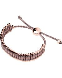 Links of London | Multicolor Rose Gold Taupe And Copper Friendship Bracelet | Lyst