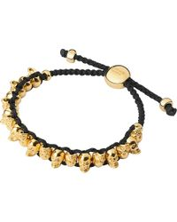 Links of London | Metallic Yellow Gold Skull Friendship Bracelet | Lyst