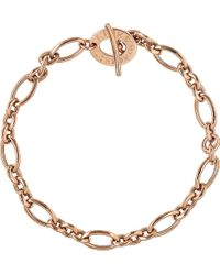 Links of London | Metallic Signature 18ct Rose Gold Charm Bracelet | Lyst