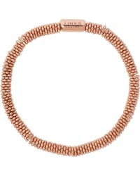 Links of London - Metallic Effervescence Star Extra-small Rose-gold Plated Bracelet - Lyst
