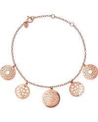 Links of London | Pink 18ct Rose-gold Vermeil Coin Bracelet | Lyst