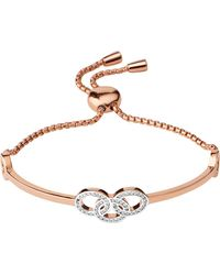 Links of London | Metallic Signature 18ct Rose Gold And Sapphire Bracelet | Lyst