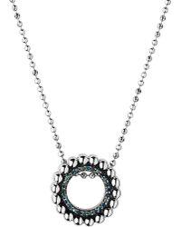 Links of London   Metallic Effervescence Diamond Pave Mini Pendant Necklace   Lyst