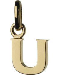 Links of London   Metallic Alphabet U 18ct Yellow-gold Charm   Lyst