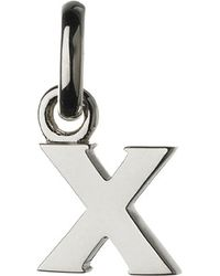Links of London | Metallic Alphabet X Sterling Silver Charm | Lyst