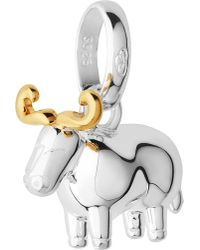 Links of London | Metallic Sterling Silver And 18-carat Yellow Gold Vermeil Chinese Zodiac Ox Charm | Lyst