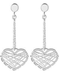 Links of London - Metallic Dream Catcher Heart Earrings - Lyst