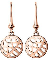Links of London | Metallic Timeless 18ct Rose-gold Vermeil Drop Earrings | Lyst
