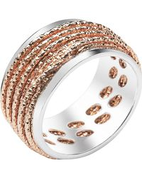 Links of London - Metallic Celeste 18ct Rose Gold Vermeil And Sterling Silver Ring - Lyst