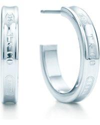 Tiffany & Co. | Metallic Tiffany 1837™ Hoop Earrings In Sterling Silver, Small | Lyst