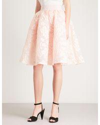 Maje - Pink Joshua Devoré Skirt - Lyst