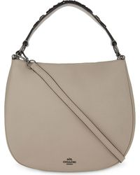 COACH - Gray Nomad Leather Hobo Bag - Lyst