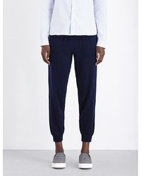 Allude | Blue Skinny Mid-rise Wool And Cashmere-blend Jogging Bottoms | Lyst