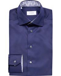 Eton of Sweden - Blue Slim-fit Shirt for Men - Lyst