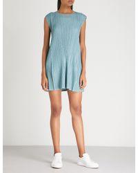 Pleats Please Issey Miyake - Blue Mellow Pleated Dress - Lyst
