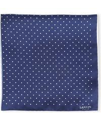 Lanvin - Blue Polka Dot Pocket Square for Men - Lyst