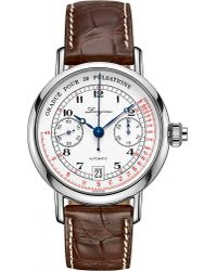 Longines - Metallic L2.800.4.23.2 Heritage Pulsometer Chronograph Stainless Steel Watch for Men - Lyst