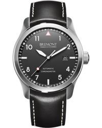 Bremont - Gray Solowh Stainless Steel And Leather Watch - Lyst