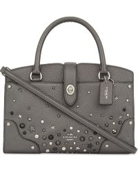 COACH - Multicolor Mercer Studded Leather Tote - Lyst