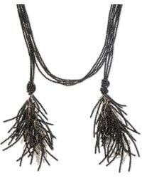 Brunello Cucinelli - Black Bead Open Necklace - Lyst