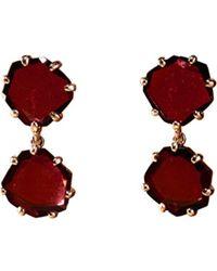 Annoushka - Red Shard 18ct Rose-gold And Rhodolite Garnet Drop Earrings - Lyst