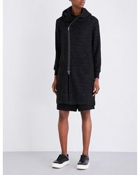 5cm | Black Hooded Knitted Cardigan | Lyst