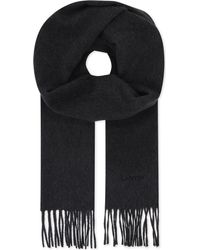 Lanvin - Multicolor Logo Embroidered Cashmere Scarf for Men - Lyst