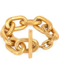 Parts Of 4 - Metallic Acid-wash Gold-plated Small Toggle Bracelet - Lyst