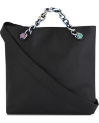 Kendall + Kylie - Black Van Leather Shoulder Bag - Lyst