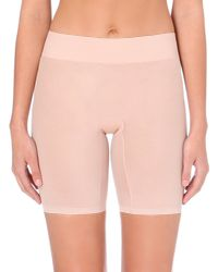 Wolford | Pink Sheer Touch Control Shorts | Lyst