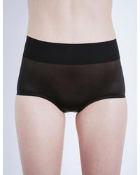 Wolford | Black Sheer Touch High-rise Control Briefs | Lyst