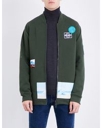 KENZO - Green Badge-detailed Cotton-blend Sweatshirt for Men - Lyst