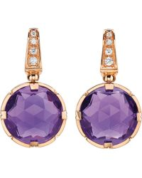 BVLGARI - Purple Parentesi Cocktail 18kt Pink-gold Earrings - Lyst