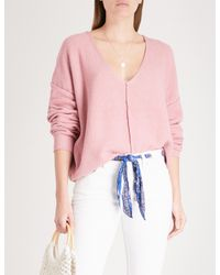 Free People - Pink Take Me Places Knitted Jumper - Lyst