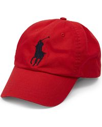 Polo Ralph Lauren | Red Logo Cotton Cap for Men | Lyst
