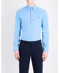 Polo Ralph Lauren | Blue Slim-fit Button-down Pure Cotton Shirt for Men | Lyst