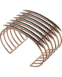 Shaun Leane - Metallic Rose Gold Vermeil And Black Spinel Quill Cuff - Lyst