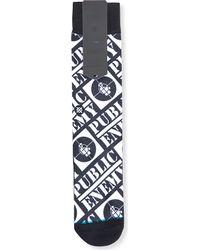 Stance - Blue Public Enemy Cotton-blend Socks for Men - Lyst