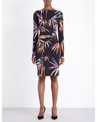 Emilio Pucci | Multicolor Bamboo-print Jersey Knee-length Dress | Lyst