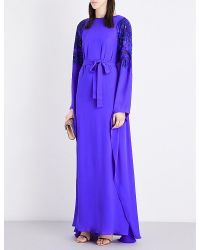 Emilio Pucci | Purple Sequin-embellished Silk Gown | Lyst