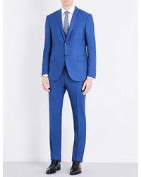Corneliani | Blue Slim-fit Wool Suit for Men | Lyst