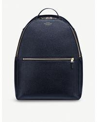 Smythson - Blue Burlington Zipped Leather Backpack - Lyst