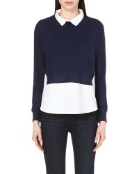 French Connection | White Fresh Knits Shirt Jumper | Lyst