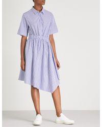 Izzue - Multicolor Striped Asymmetric Cotton Midi Dress - Lyst