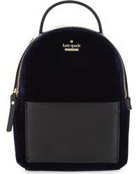 Kate Spade - Black Watson Lane Mini Velvet Backpack - Lyst