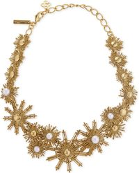 Oscar de la Renta | White Sun And Pearl Charm Necklace | Lyst