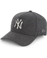KTZ | Gray Melton Metal Trucker Yankees Wool-blend Baseball Cap for Men | Lyst
