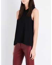 Helmut Lang - Black Ladies Knot Knotted-back Crepe Top - Lyst