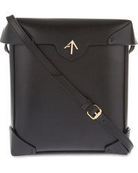 MANU Atelier - Black Pristine Leather Cross-Body Bag - Lyst